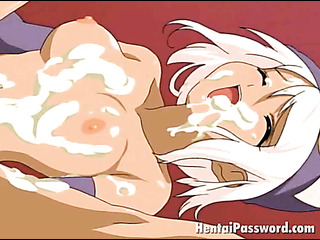 pink haired busty hentai
