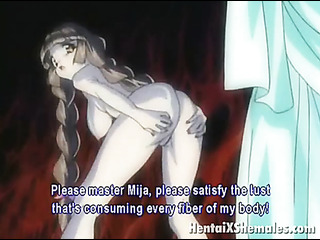 pigtailed hot hentai girl