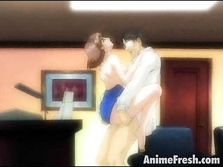 tempting anime cutie getting