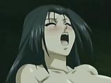 Anime girl with plaits fucks