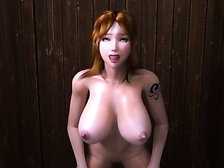red buxom gets fucked