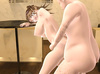 Gorgeous brunette bitch with huge funbags gives titjob and spreads legs for old cock