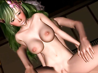 boobilicious green-haired fairy expelling