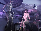 Crazy bizzare porn toon with all kinds of monsters and tentacles handling brunette buxom