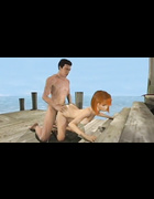 Big-boobed 3d redhead gets fucked with plant tentacles after sex on the beach