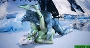 ice creature fucking green-skinned