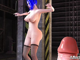 Big-titted tart hooks up with big-dicked futa girl