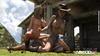 Lesbian futanari cowgirls enjoying riveting sex