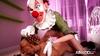 Creepy clown doggystyles unsuspecting teenage babe