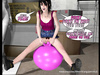 Kinky teen bounces on inflated yoga sex toy