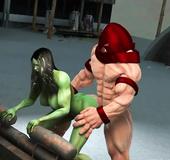 3D toon mutant babe
