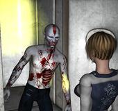 Zombie fucks hot chick's nether holes